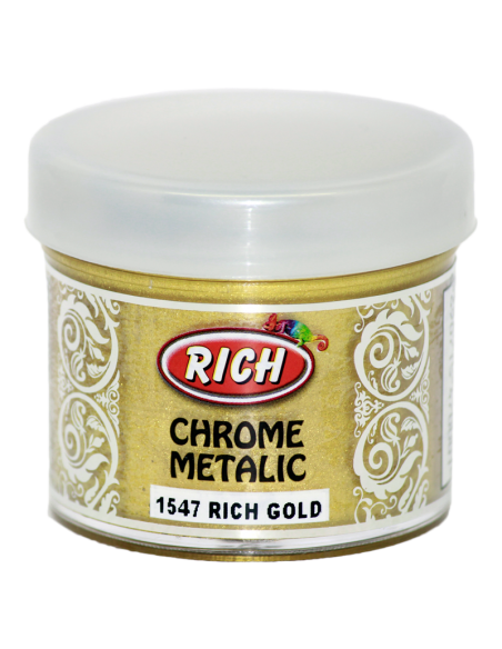Rich Gold 1547 Chrome Metalik Akrilik Boya 50cc